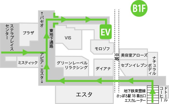 地下一階フロアマップ